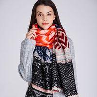 Wholesale Scarves Pastoral - 2017 Fashion brand shawl scarf shawl designer European pastoral style multicolor famous Spanish brand design group