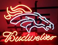 """Wholesale Horse Place - New Budweiser Horse Glass Neon Sign Light Beer Bar Pub Arts Crafts Gifts Sign Size:19"""""""