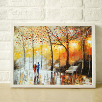 Wholesale Texture Palette Knife Painting - 100% High quality hand painted canvas palette knife painting thick texture of the decorative painting JL235