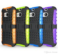 Wholesale M7 Phone Case - Heavy Duty Rugged Defender Cell Phone Protective Armor Hybrid Case For HTC One M7 M8 M9 Plus M10 Cover Skin With Kickstand Shockproof