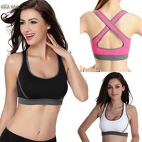 Wholesale Cheap Women Push Bras - Cheap Wholesale Bras Woman Sportswear For Women Jogging Yoga Racerback Sports Fashion Sexy with High Quality
