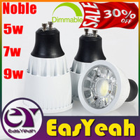 12v mr16 fixture al por mayor-Loco 30% OFF-CREE 5W 7W 9W COB Focos regulable / GU10 / E27 / MR16 Bombillas Frío / Calor / blanco natural 4500K Fixture spot Lámparas de luz LED CSA no