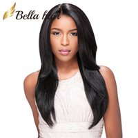 Wholesale Middle Part Lace Remy Wig - Middle Part Silky Straight Full Lace Wig Brazilian Human Hair Wigs Natural Hairline Lace Wigs Free Shipping Bella Hair