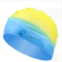Wholesale Silicone Swim Caps Wholesale - Quality Solid Swimming Cap 100% Silicone Swimming Hats Water-proof Adult Caps Men Women Color Mixed Colors Skid Conditioner Cap Wholesale