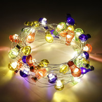 ingrosso alberi decorativi bianchi-USB LED Bulb String Light 6m 40 LED Colorful Ball Lights Luce decorativa impermeabile di Natale per Garden Party Tree Wedding Warm White