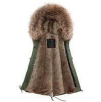 Wholesale Korea Jacket Faux - Korea design new style Faux rabbit fur brown Mrs Mr fur short jacket sleeveless with big raccoon collar fall coat