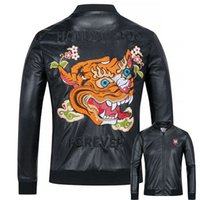 Wholesale Nice Jackets - Popular Design Free Delivery Nice Quality New Arrivals Leather Jackets Men's Outwear Coat Spring Autumn Embroidery Patches
