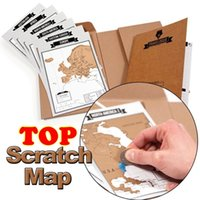 Wholesale Tourist Souvenir Gift - Factory Hot Sale Deluxe Travelogue Scratch Map Traveler Log Tourist Maps Notebook Best Travel Gift for Backpackers 22.5*17*2 CM