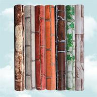 ingrosso sala da parati in vendita-Vendita calda Design moderno impermeabile Wallpaper Brick Sfondi Vintage Home Decor Soggiorno 3D Wallpaper IA977