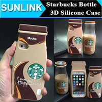 Wholesale Tea Iphone Case - STARBUCKS Milk Tea Coffee Bottles Case 3D Soft Silicone Rubber Cover For IPhone 6 6S Plus 5 5S se Samsung Galaxy S6 Edge S5 Note 5 4 3 A8