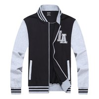 ingrosso giacche 8xl-Giacca da baseball da uomo 2017 primavera marca abbigliamento felpa college patchwork colore giacche da uomo plus size L-8XL