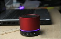 Wholesale S11 Beatbox Speakers - S11 Enhanced Super Bass Metal Mini Portable BeatBox Hi-Fi Bluetooth Speaker Handfree Mic Stereo best Speaker free dhl