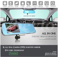 "Wholesale Dvr Rear - Car dvr 5"" Android 4.0 Car Rear view Mirror Navi GPS + 1080P DVR + Wifi + Backup Camera"