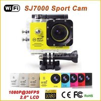 Wholesale Marine Wifi - SJ7000 Action Camera Wifi 2.0 inch LTPS LED HD 1080P Sports Waterproof DV Extreme Mini Cam Recorder Marine Diving 2015 New Cameras
