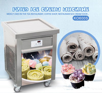 Wholesale Free shipment by air to door EU CE single pan ROLL ICE CREAM MACHINE fried ice cream machine snack food tools with full refrigerant