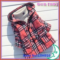 Wholesale Clearance Long Down Coat - Wholesale-Clearance Sale! Baby Girls Down Jacket Cartoon Grid Thick Warm Parkas Coats Winter Christmas Costume New Year Gift Free Shipping
