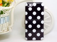 Wholesale Iphone 5c Silicon Dots - Wholesale-GHWW-99: Polka Dot Silicon Soft TPU Cover Cases For Apple iPhone5C Case For iPhone 5C Shell VNZZ XXRR PITT SLTT UWW CMGWW UARWW