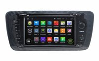 """Wholesale Seat Ibiza Dvd Player - 1024*600 Quad-core HD 2 din 7"""" Android 4.4 Car Radio Car DVD for Seat Ibiza 2009-2013 With GPS 3G WIFI Bluetooth IPOD TV AUX IN"""