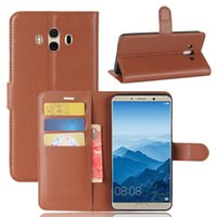 Wholesale Mate Wallet - New Hot Sell Luxury PU Leather Wallet Cases With Stand Card Holder For Huawei mate 10 Free ship