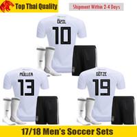 Wholesale Germany Army - WAGNER Germany Soccer Jerseys 2018 WERNER OZIL Soccer Sets GOTZE Football Uniforms KROOS MULLER Football Shirt Shorts Socks SCHURRLE Trikot