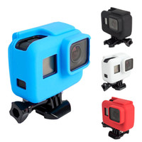 Wholesale Gopro Rubber - GoPro 5 6 Accessories Protective Case Soft Rubber Silicone silica ge Shell Protector Housing For Go pro Hero 5 6 Black