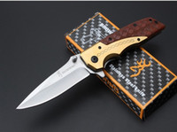 Wholesale Oem Browning Folding Hunting Knife - OEM Browning DA77 Tactical Folding Knives 5Cr15Mov 57HRC Steel Camping Hunting Survival Pocket Knives Military Utility Clasp Hand Tools