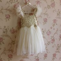 Wholesale Little Girl Clothes For Sale - Hot Pretty Children Clothes Kids Dresses Girls Sequins TuTu Dress Little Girls Skirts High Quality Princess Dress for Sale