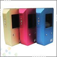 Wholesale E Cig Voltage Mods - GI 2 Mod GI2 Mod GI2 100W Box Mod E Cig 100Watt Mod Variable Voltage and Variable Wattage TFT Color Display Mechanical Mod DHL Free