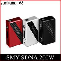 ingrosso smy box mod tc-Geninue Smy SDNA 200 W TC Mod Autentico Evolv DNA200 Chip Box di Controllo della Temperatura Mod 4800mAh SDNA 200 Mod DHL spedizione gratuita