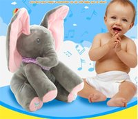 Il migliore Peek-a-boo Elephant Baby Peluche Singing Stuffed Animated Doll Gift Elephant Animali di peluche Hide and seek Musica elettrica Peluche