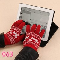 Wholesale Touch Gloves Deer - Wholesale-2015 free shipping fashion casual knit cell phone touch screen warm winter gloves men women cute lover deer hot sale promotion