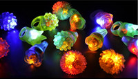 New Arrival LED Ring Light Ring Flash Mitts Cool Led Light Up Flashing Bubble Ring Rave Party Piscando Soft Jelly Glow Party Favor