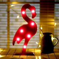 Wholesale Led Lights For Christmas Lanterns - 2017 New Fashion Light Led Night Lamp Flamingo Unicorn Cactus Pineapple Lantern Wedding Party Decoration Christmas Decorations For Home
