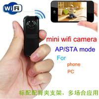 micro cámara de video android al por mayor-Videocámaras mini Cámara WiFi Mini DVR Grabación de video Mini cámara IP Micro Deporte Inalámbrico Bebé Monitor p2p para iPhone / iOS Android