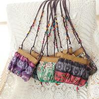 Wholesale Summer Messenger Bags - Popular Hot National Women Messenger Bags Candy Color Travel Beach Weave Shoulder Bags Summer Patchwork Ladies Bag ZB0578 salebags