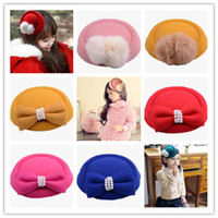 Wholesale Pink Hat Hair Clips - Fashion Baby Accessories Nonwovens Hat Bows Pearl Beads Children Girl Jewelry Hair Clip HairPins Hairwear free shipping