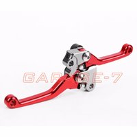 Wholesale Dirt Bike Brake Clutch Lever - For Honda CRF450R Dirt Bike Off Roads One Pair Pivot Racing Red Brake Clutch Levers 2004 2005 2006 A New CNC Motorcycle Brakes