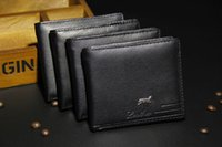 Wholesale Cheap New PU Leather Men Wallets Purse Bifold Brand Wallet Retro Design Style Purse For Men New Hot