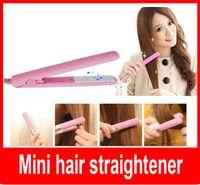 Wholesale Mini Ceramic Iron Hair Straightener - Travel mini iron Mini hair straightener Mini hair iron Promotion gift portable hair straightner ceramics plate