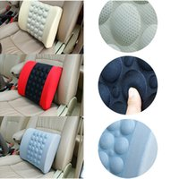 Wholesale Electric Cushion - New Electric Car Lumbar Support High Quality Car Back Seat Cushion Auto Seat Massage Relaxation Waist Support Pillow