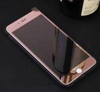 vidrio iphone 5s espalda al por mayor-Cubierta completa para el cuerpo Frente Premium galvanoplastia Cristal templado Protector de pantalla Parte trasera Máscara espejo A prueba de membrana para iPhone 5 5S iPhone 6 6S