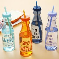 Candy Color Fresh Summer Soda Water Bottle Cup of Portable Water Cup Cute Plastic Cup Water Bottle