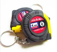 Wholesale Measuring Tape 1m - 1m Mini Portable Steel Tape Measure Keychain Holster Measuring Tape