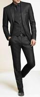 Wholesale charcoal grey men suit for sale - Group buy Men Slim Fit Suits Custom Made Charcoal Grey Groom Suit Bespoke Tailor Wedding Suits For Men Mens Wedding Tuxedos Suits h67
