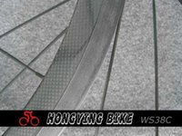 Wholesale Accept Sample Order - Wholesale-Best quality carbon 38mm clincher wheel with basalt brake surface,100% full carbon 38mm wheel rims accept sample order first
