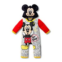 Wholesale Donald Duck Rompers - 60pcs  lot 2015 baby boys girls Cartoon mickey donald duck long sleeve spring autumn cotton hooded rompers for children