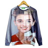 Wholesale Galaxy Bieber - FG1509 Free shipping! Autumn New fashion Women Men Bieber Miley 3D Galaxy sweatshirts hoodies sweater Tops