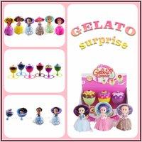 Wholesale Ice Cream Clips - Cupcake Surprise Princess-Gelato Ice Cream 16.5cm Vinyl Dolls-6 Roles Figures with Comb Clips Funny Kids Toys