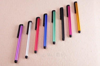 Wholesale S4 Mini Candy - Capacitive Stylus Pen 10 Candy Color Mini Stylus Touch Screen Pen For Capacitance Screen Iphone 5S Ipad 2 3 4 SUMSANG S5 S4