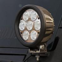 Wholesale Motor Trailers - Car 12V 24V 70W CREE LED Working Light Spot Flood Lamp Motorcycle Tractor Truck Trailer SUV JEEP Off Road Motor Flood Spot Light